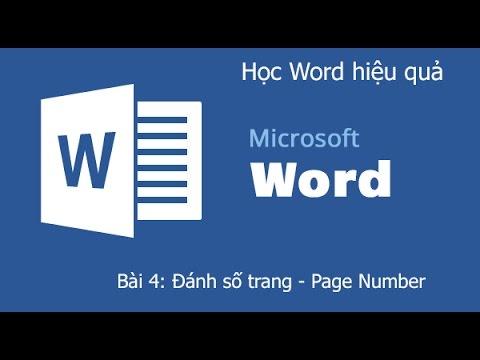 Word 2013: Đánh số trang - Page Number