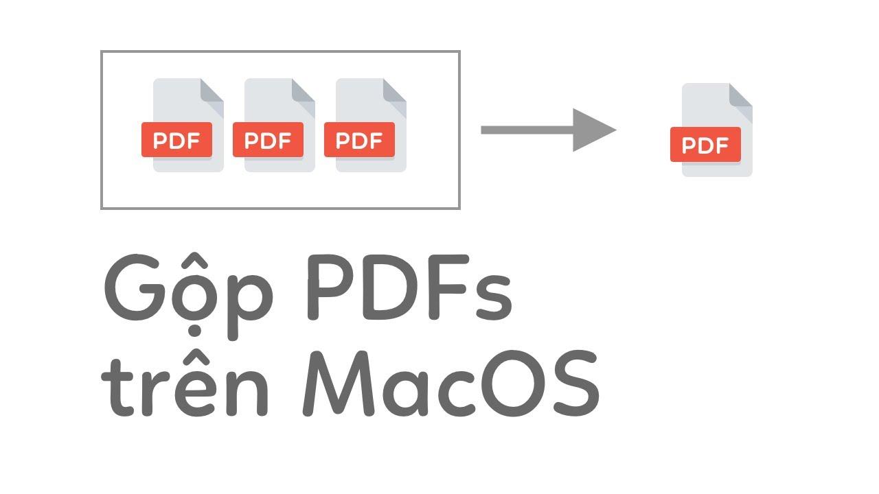 2 Cách gộp nhiều files PDF trên MacOS không cần cài thêm phần mềm