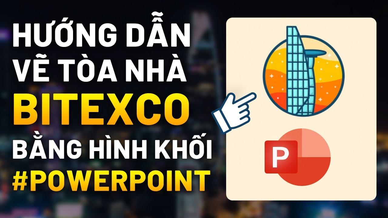 Powerpoint / Hướng dẫn vẽ Bitexco Tower bằng Powerpoint với tính năng Merge và Edit Point / Tutorial