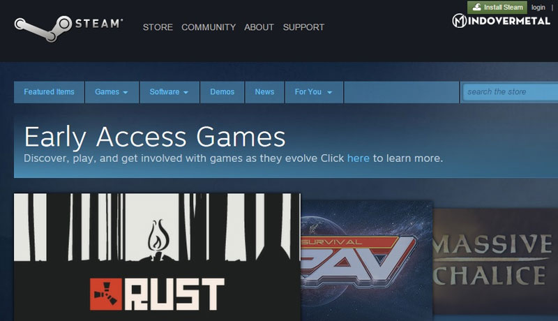 early-access-game-tren-nen-tang-steam-mindovermetal